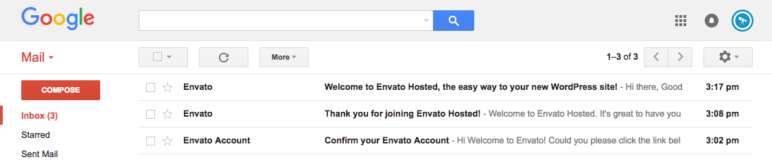 Envato Hosted Confirmation Emails