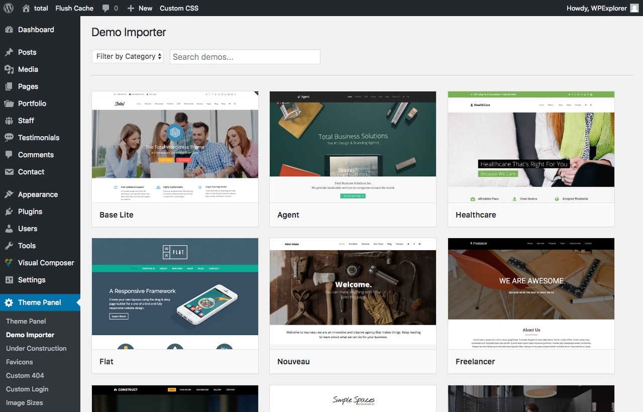 Envato Hosted Total Demos