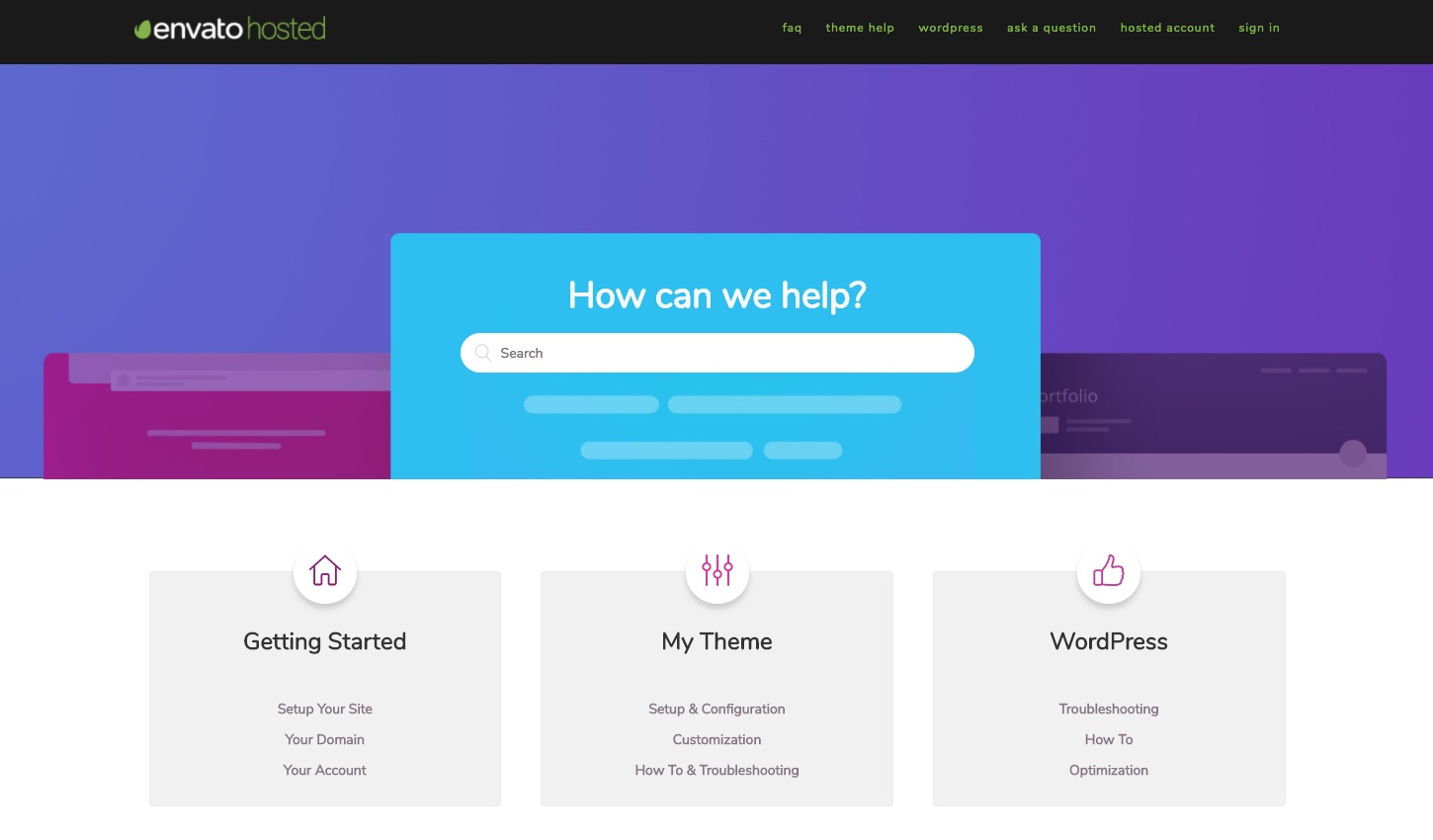 Envato Hosted Support