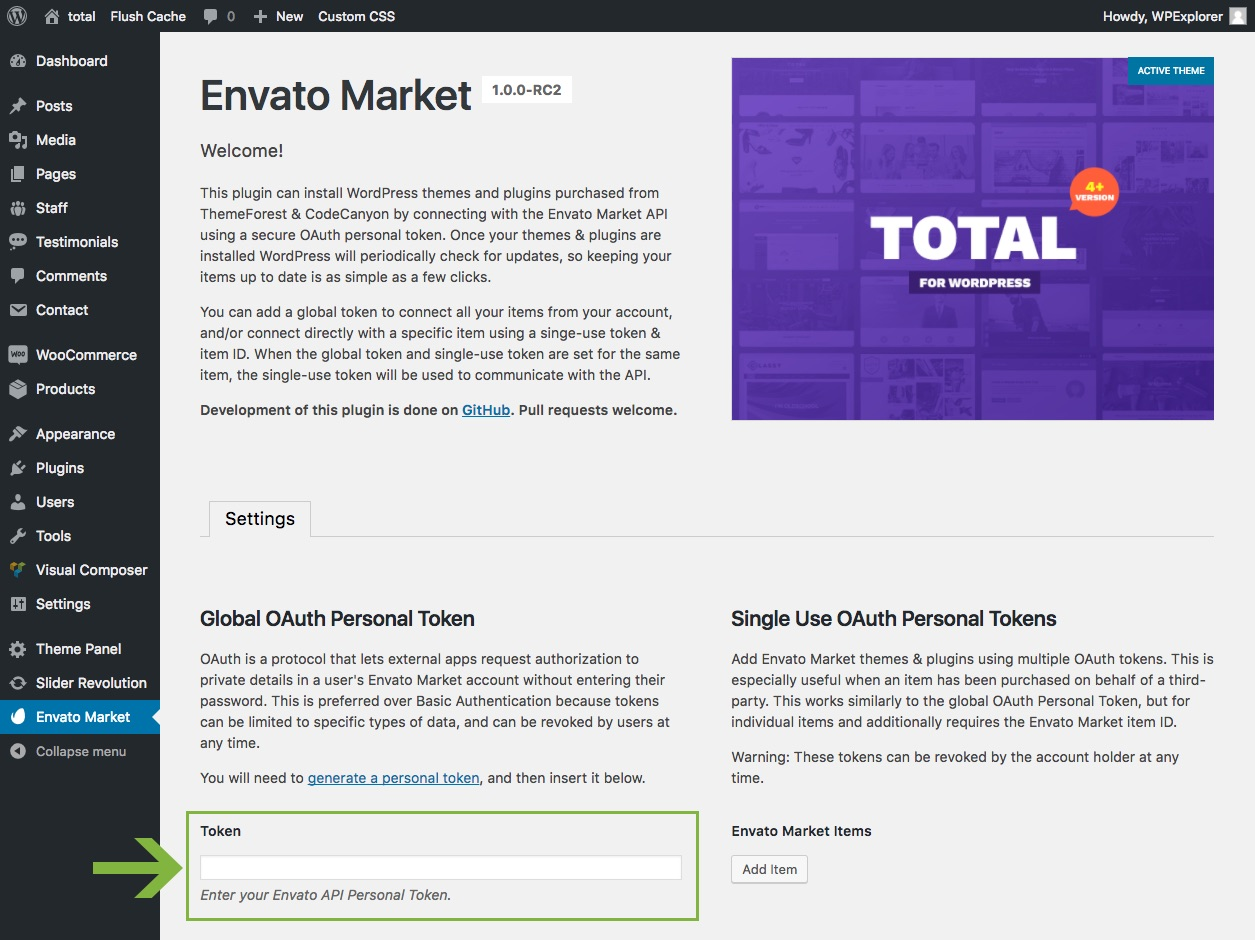 Envato Hosted and Envato Market