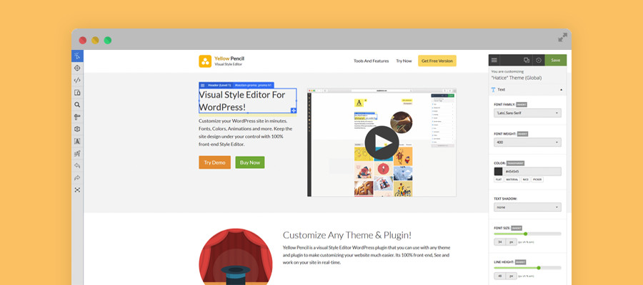 Yellow Pencil Visual CSS Editor WordPress Plugin
