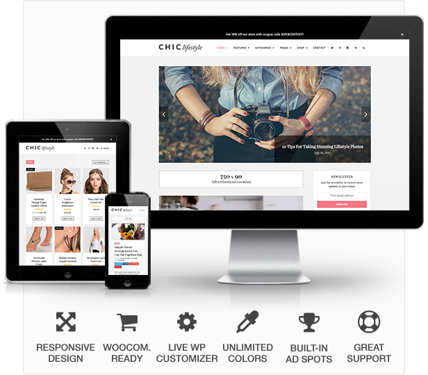 WordPress theme Chic Responsive Blog & WooCommerce WordPress Theme (Personal)