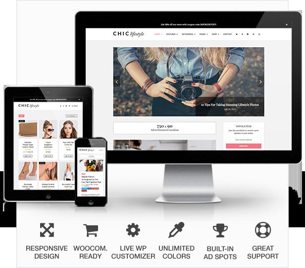 Chic Responsive Blog & WooCommerce WordPress Theme (Personal)