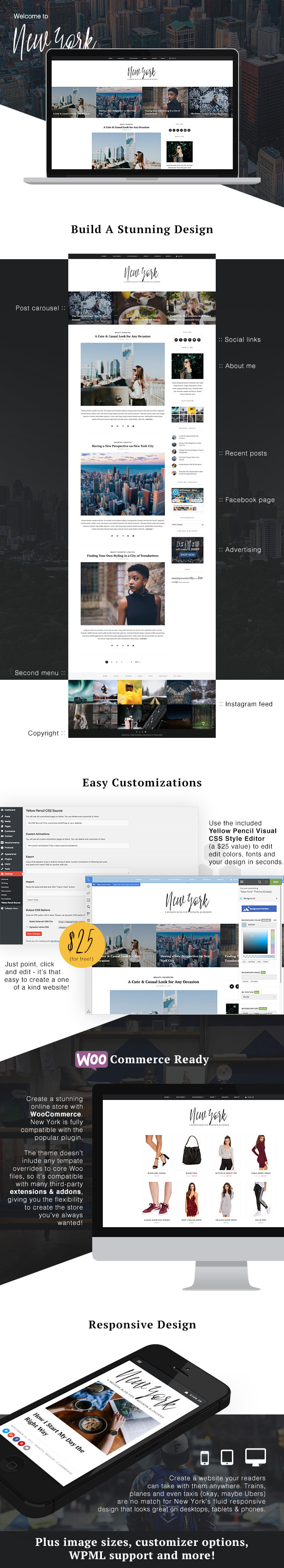WordPress theme New York - WordPress Blog & Shop Theme (Personal)