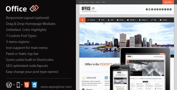 Office WordPress Responsive Multipurpose Theme