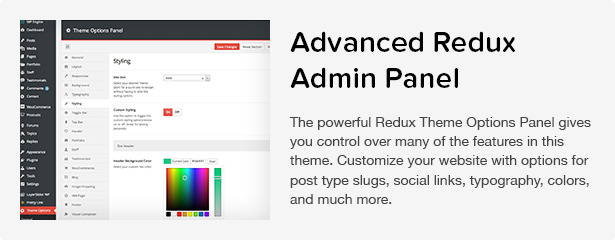Total WordPress Theme: Redux Admin Panel