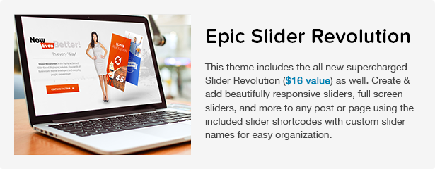 Total WordPress Theme: Slider Revolution
