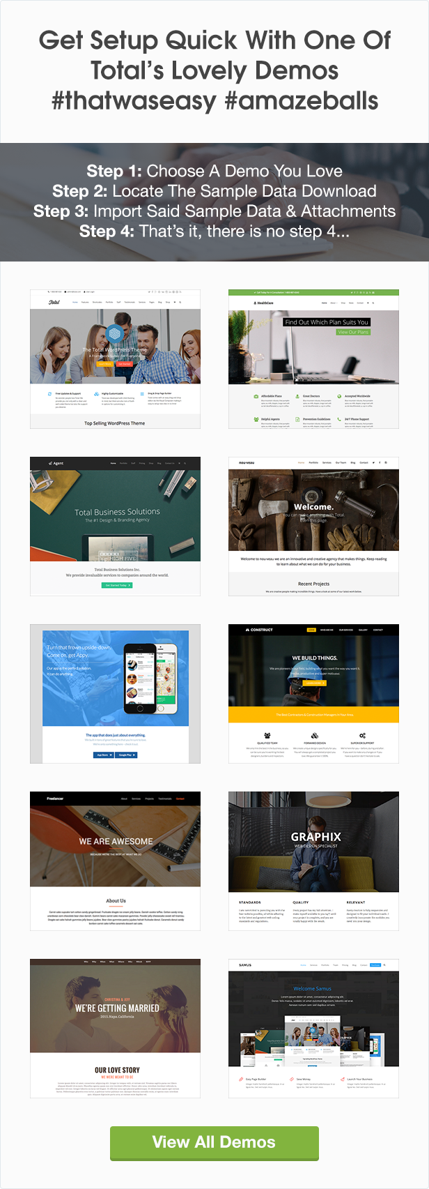 Total WordPress Theme Demos