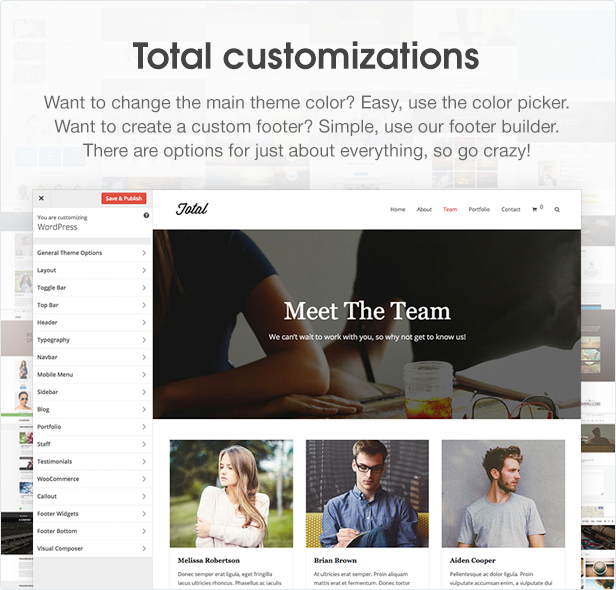 Total WordPress Theme Customizations