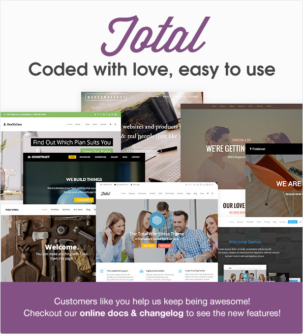 Total WordPress Theme Coded With Love
