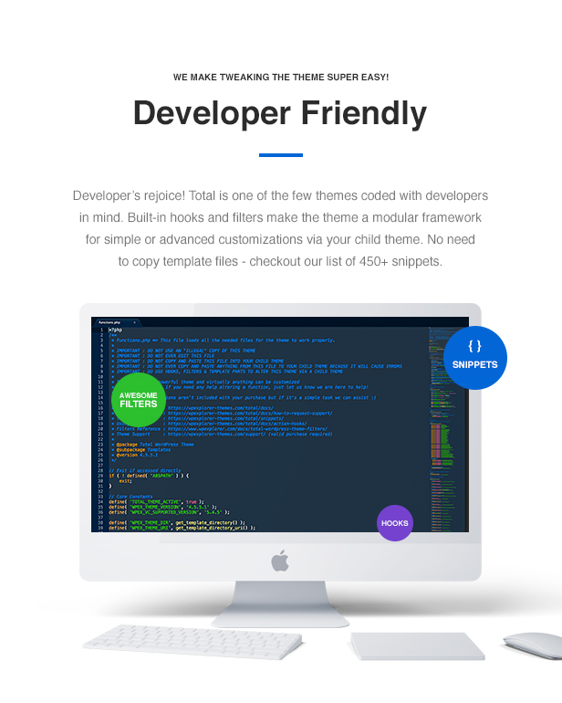 Total WordPress Theme Developer Friendly
