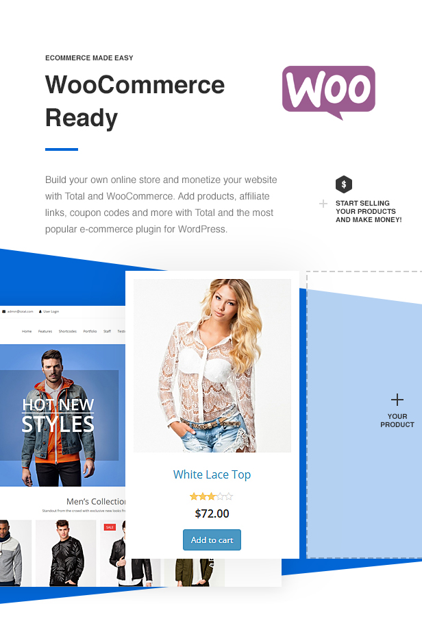 Total WordPress Theme WooCommerce Ready