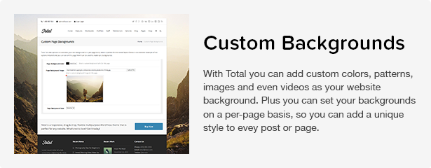 Total WordPress Theme: Custom Backgrounds