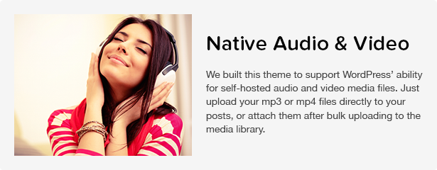 Total WordPress Theme: Native Audio & Video