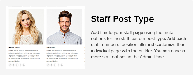 Total WordPress Theme: Staff
