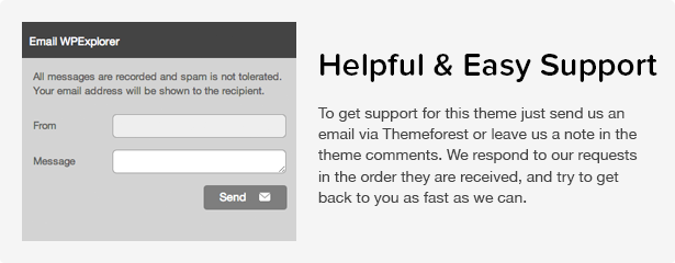 Total WordPress Theme: Great Support