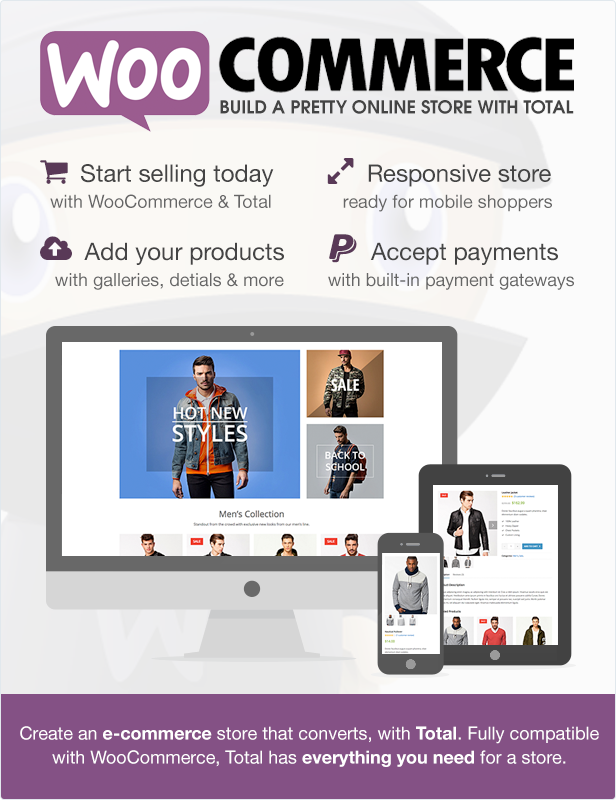 Total WordPress Theme WooCommerce Compatible
