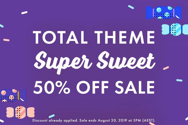 Total Theme Super Sweet Sale