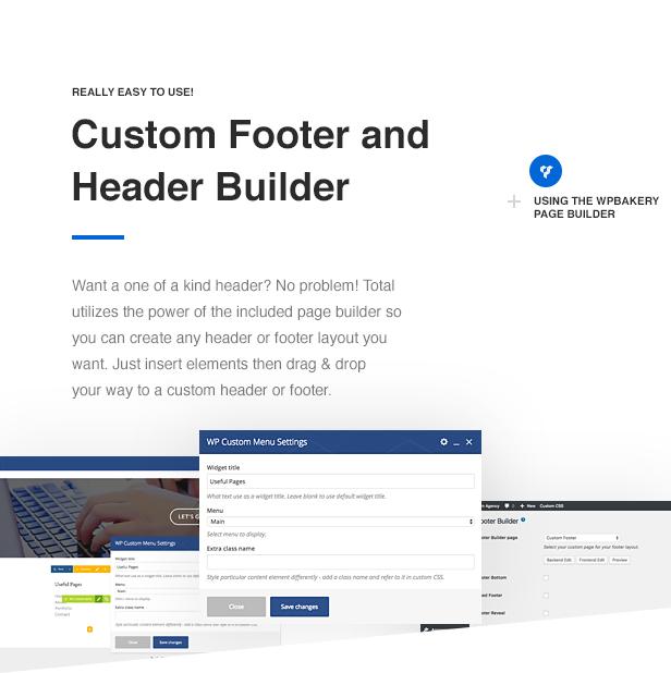 Total WordPress Theme Header & Footer Builder
